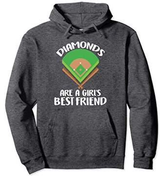 Funny Diamonds Are A Girls Best Friend Baseball Hoodie