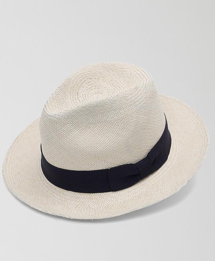 Natural Panama Hat with Black Band