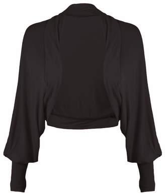 R Kon Women's Ladies Long Sleeve Batwing Bolero Shrug