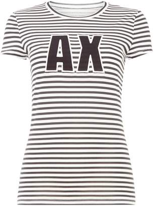 Armani Exchange Short Sleeve Striped Logo Tee