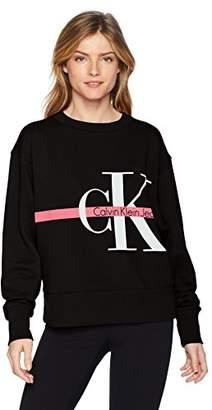 Calvin Klein Women's Long Sleeve Sweatshirt Monogram Logo