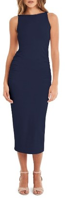 Women's Michael Stars Reversible Stretch Cotton Midi Dress $88 thestylecure.com