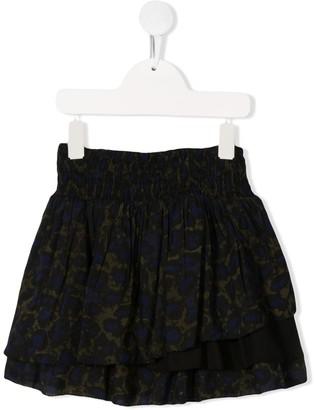 Zadig & Voltaire Kids leopard-print layered skirt