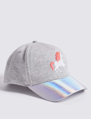 Marks and Spencer Kids Unicorn Baseball Cap with Sun Smart UPF50+ (3-14 Years)