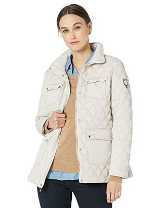 Vince Camuto Women's Patch Pocket Quilted Jacket Outerwear,M
