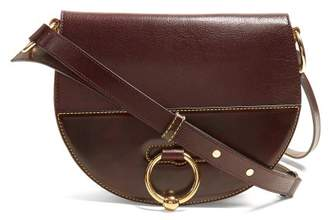 J.W.Anderson Latch Leather Cross Body Bag - Womens - Burgundy