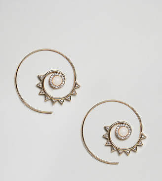Accessorize limited edition gold spiral earrings