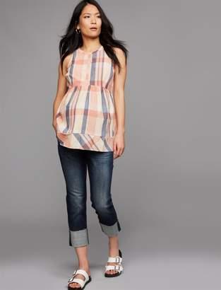 aa50747e229bf Luxe Essentials Denim Kate Boyfriend Maternity Jeans