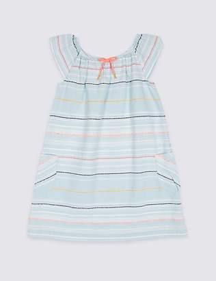 Marks and Spencer Striped Dress (3 Months - 7 Years)