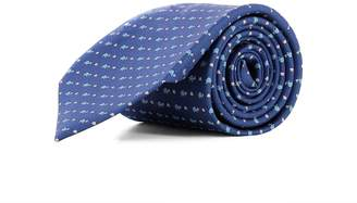 Salvatore Ferragamo Blue Silk Tie