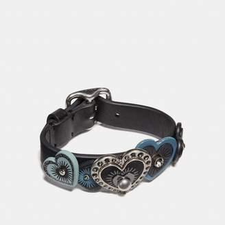 Coach Heart Buckle Bracelet