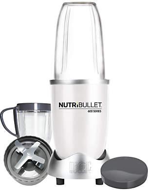 NutriBullet 8 Piece 600 Series Juicer Blender, White