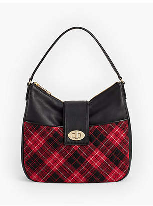 Talbots Quilted Greenwich Plaid Hobo Bag