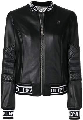 Philipp Plein zipped bomber jacket