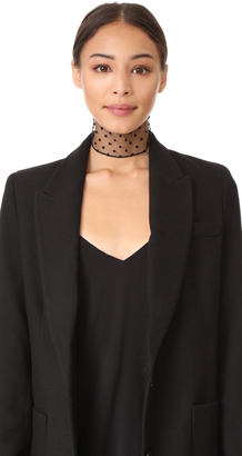 Marc Jacobs Polka Dots Flocked Twilly Scarf $75 thestylecure.com