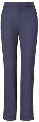 Banana Republic Petite Ryan Slim Straight-Fit Lightweight Wool Solid Pant