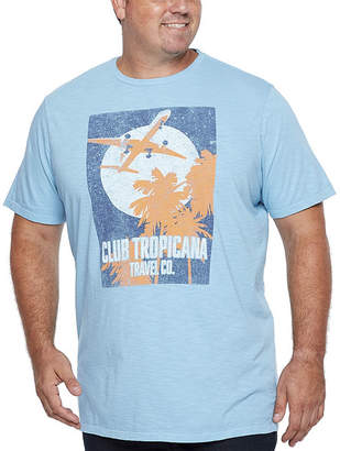 Co THE FOUNDRY SUPPLY The Foundry Big & Tall Supply Mens Crew Neck Short Sleeve Graphic T-Shirt-Big and Tall