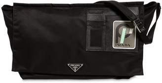 Prada Nylon Messenger Bag W/ Leather Patch