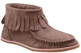 Splendid Bennie Suede Moccasin Ankle Boots