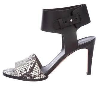 Vince Embossed Ankle Strap Sandals