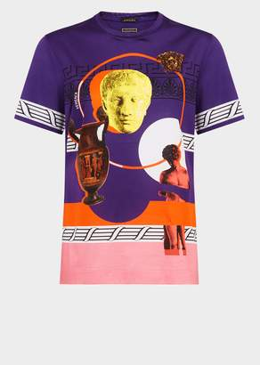 Versace Magna Grecia Pop Violet T-Shirt