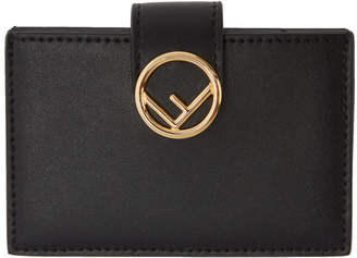 Fendi Black Multiple F is Card Holder