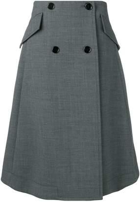 MM6 MAISON MARGIELA buttoned A-line skirt
