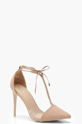 boohoo Pointed T Bar Heels