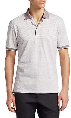 Ermenegildo Zegna Men's Stripe Polo Shirt