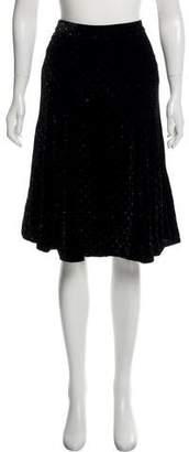 Marc Jacobs Velvet Polka Dot Skirt