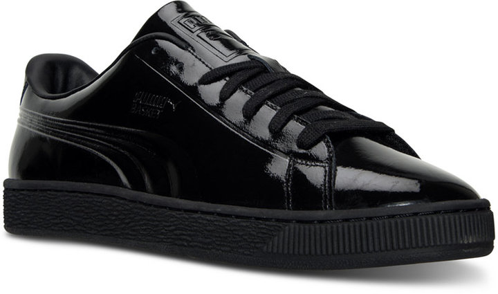 Puma Men's Basket Classic Patent Emboss Casual Sneakers from Finish Line