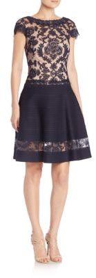 Tadashi Shoji Illusion Lace Dress $388 thestylecure.com