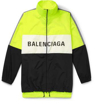 Balenciaga Oversized Logo-Print Shell and Ripstop Jacket