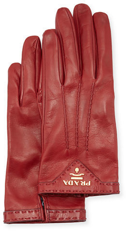 prada Prada Napa Leather Gloves