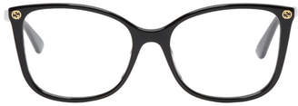 Gucci Black Thin Oversized Glasses