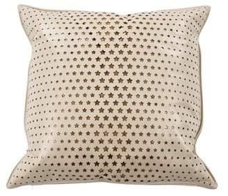 Fendi Star Leather Throw Pillow
