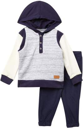 7 For All Mankind Hoodie & Pants Set (Baby Boys)