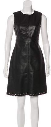 Karl Lagerfeld Grommet-Accented Leather Dress