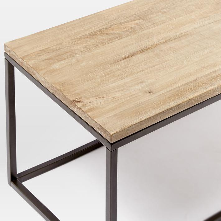 west elm Box Frame Coffee Table - Whitewashed Mango