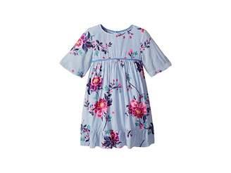 Joules Kids Floral Woven Peplum Dress (Toddler/Little Kids)