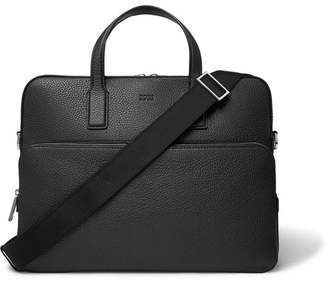 HUGO BOSS Crosstown Full-Grain Leather Briefcase - Black