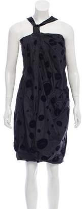 Balenciaga Sleeveless Silk Knee-Length Dress
