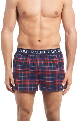 Men's Polo Ralph Lauren Slim Fit Stretch Woven Boxer Shorts $28 thestylecure.com