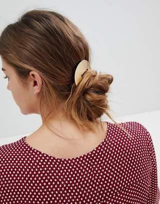 Orelia Brushed Semi Circle Barrette Hair Clip
