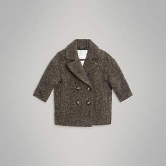 Burberry Wool Alpaca Blend Tailored Coat