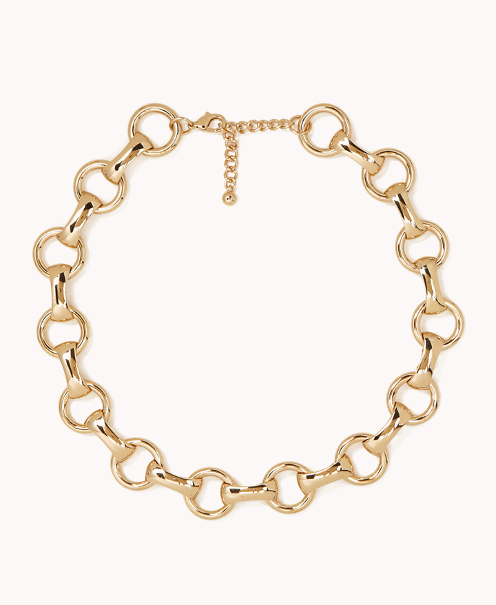 Forever 21 Round Chain-Link Necklace
