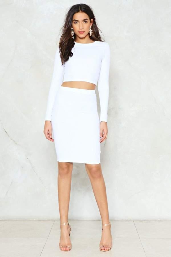 nastygal Piece of Work Top and Skirt Set
