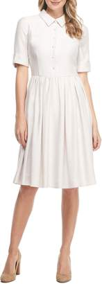 Gal Meets Glam Beatrice Tussah Textured Fit & Flare Dress