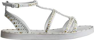 Burberry Riveted Leather Gladiator Sandals
