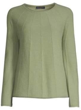 Piazza Sempione Cashmere Seamed Sweater